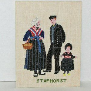 Vintage Finished Cross-stitch Staphorst Holland